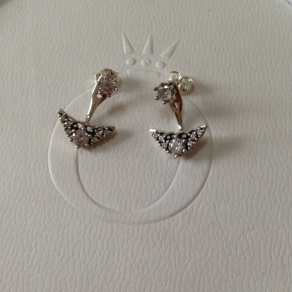 c771d45f3 Pandora Jewelry | Authentic Fairytale Tiara Stud Earrings | Poshmark